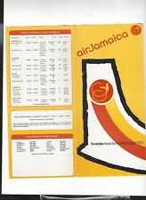 Air Jamaica airlines  November 18  1978   Timetable