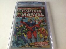 CAPTAIN MARVEL 31 CGC 9.4 THANOS CAPTAIN AMERICA THOR AVENGERS DRAX MARVEL COMIC