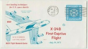 Stamp first captive flight 1973 shuttle on white house conference on ageing PSE