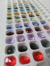 50PCS 12mm 1Hole Octagon Crystal Chandelier Part  Glass Prism Loose Bead Colorf