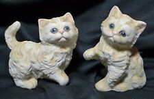 Homco Set of 2 Kittens Porcelain Figurines Made in Japan 1970's