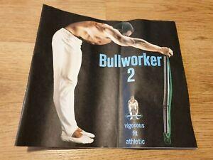 BULLWORKER 2 VINTAGE 1964 BOOKLET / INSTRUCTION MANUAL.  ORIGINAL & RARE.