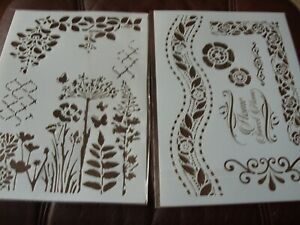 A4 Layering Stencils Templates Scrapbooking, Craft  DIY  Flowers and Borders