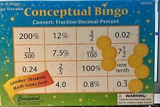 Conceptual BINGO Fractions: Six Calling Actions #3301 Thinking MATH GAME