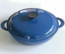 LE CREUSET #26 Blue BRAISER 2.25 QUART Casserole Pot w/ Lid