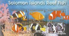 Salomoninseln block65 mint never hinged mnh 2001 Fish on Korallenriff