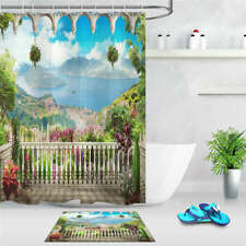 Natural Scenery Waterproof Bath Polyester Shower Curtain Liner Water Resistant