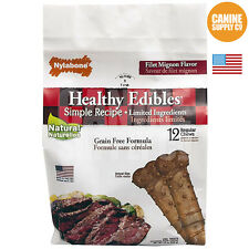 Nylabone Healthy Edibles Filet Mignon Dog Treats, Reg (Dogs Up To 25 Lbs.) 12-Ct