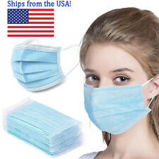 50 PCS Disposable Face Masks Non-Medical Free Same Day SHIP California USA