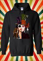 Mad Hatter Johnny Depp Jack Sparrow Men Women Unisex Top Hoodie Sweatshirt 162E