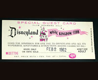 Disneyland Authentic Vintage Special Guest Admission and Rides Ticket Stub 1962
