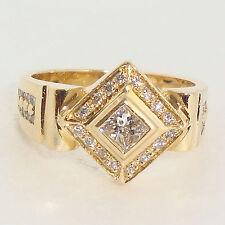 Estate  .60ct Diamond Ring Solid 14K yellow Gold Fine Jewelry