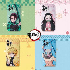 Anime Demon Slayer Kamado Nezuko Kochou Shinobu Phone Case Cover Skin For iPhone