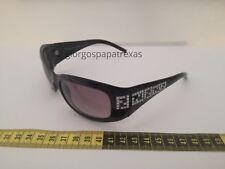 5b43bbb0541a Fendi FS436R Black Frame Swarovski Crystal Black Lenses Sunglasses Vintage