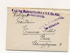 Nr.20692 PK Feldpost Brief  K.u.K. Material Depot Rzeszów 1917 Polen