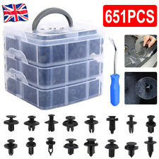 651X Car Plastic Push Pin Rivet Trim Clips Panel Fasteners Interior Fixing Tools