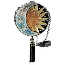 Mary Frances Beaded Jeweled Day to Night Sun Moon Stars Galaxy Shoulder Bag