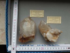 Bergkristall Quarz Weißenstadt Mineralien Sammlung Lot 3 Kristalle