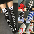 Sexy Stylish Women Lady Cosplay Over Knee Thigh High Stockings Socks Bowknot