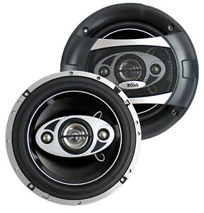 """2) NEW BOSS AUDIO 6.5"""" 4-Way 400W Car Coaxial Speakers Stereo (Refurbished)"""