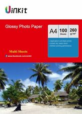 Uinkit 100-1000 Sheets A4 260Gsm High Glossy Photo Paper Inkjet Paper Printer