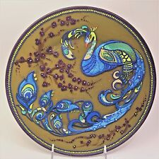 """Gift Decorative Glass Plate """"Mandala"""" - Hand Painted Home Decor Point-to-Point"""