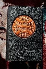 "Oberon Design Book Journal Cover 6"" x 9"" ICON KELLS CROSS - Pebbled Leather-Rare"