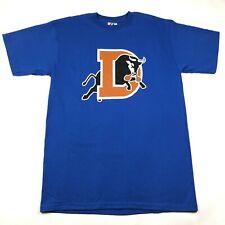 Durham Bulls Mens L Royal Blue T Tee Shirt Crew Neck Majestic Cotton New