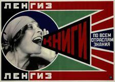 Leningrad State Publishers,1923, Alexander Rodchenko Constructivism Poster