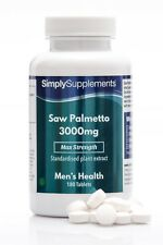 Saw Palmetto 3000mg * 180 Tablets * Max Strength