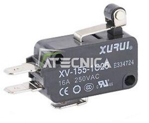 10 Microswitchs électriques NO NC 250V 16A à bouton et roulement 50g de force