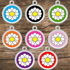 Stainless Steel With Enamel Pet ID Tags Designers Daisy by CNATTAGS