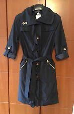Women's Sinar spring jacket trench long length coat black Size M