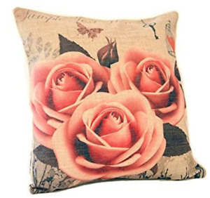 """Clearance Linen Burlap Cushion Covers 18"""" Home Furnishing Accessories Decor"""