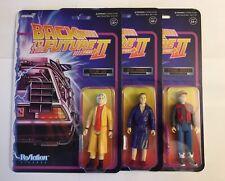 Super 7 ReAction Back to the Future Part II Future Doc Future Marty Biff Tannen