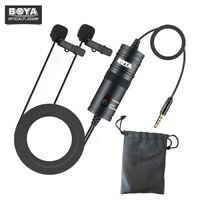 BOYA BY-M1DM Dual Omni-directional Lavalier Microphone for Canon Smartphones
