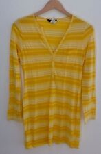 J.Crew Cotton Tunic Ombre Yellow Coverup Pool Sun Striped Long Sleeve Casual S