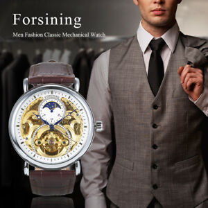 Men Luxury Hollow Watch Classic Charm Automatic Mechanical Wrist Watch S1J3