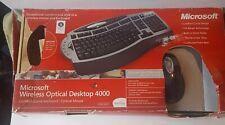 Microsoft Wireless Laser Desktop 4000 Keyboard & Mouse Excellent !