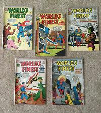 FiVE Worlds Finest Comics, #111, 117, 121, 122, 144, Ungraded, 1961-62,