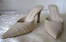 BrunoMagli – Sexy ALL Leather Italy Mules Heels Beige 6B