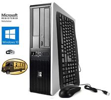 Fast HP Desktop PC Computer Dual Core 3.4Ghz 8GB 2TB Windows 10 Pro WIFI KEY+MS
