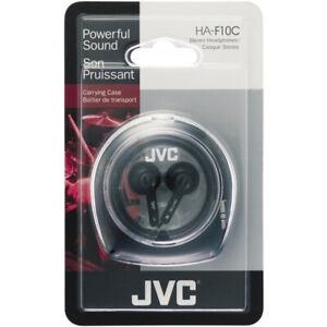 JVC HAF10C Ear Bud Stereo Headphones with Case