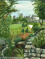 """Irish Garden Castle 8""""x10"""" Limited Edition Oil Painting Print Signed Art by Arti"""