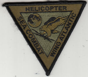 HELICOPTER SEA COMBAT WING ATLANTIC OD GREEN / BLACK COMMAND CHEST PATCH