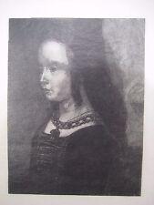 c1880 Wood Engraving by Caroline Amelia Powell? Portrait of a Girl -artist proof