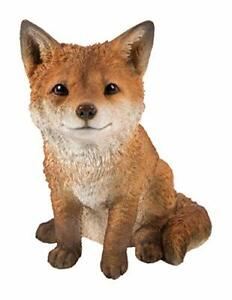 Vivid Arts - Real Life Woodland Sitting Fox Cub Home or Garden Decoration