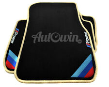 BMW 3 Series E93 Black Floor Mats Beige Rounds With ///M Power Emblem With Clips