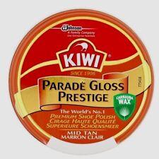 KIWI GLOSS MID TAN SHOE POLISH 50ml TIN PARADE BEST EAXED PREMIUM CLEANER