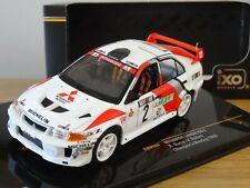 IXO MITSUBISHI Lancer EVO V WRC Rally Richard Burns 1998 Car Model Ram524 1 43